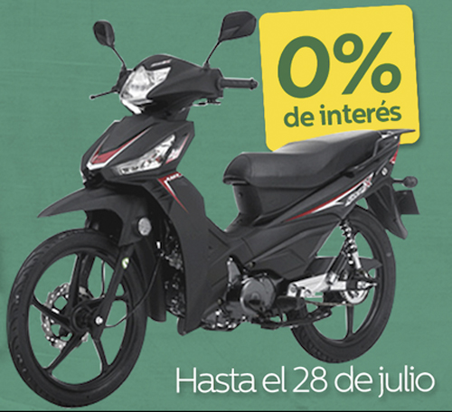 Crédito 0% interés en compra de moto AKT